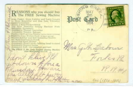 Postal History: Discontinued PO (Page 420)