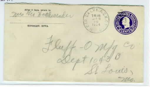 Postal History: united states, iowa, plymouth County, kingsley