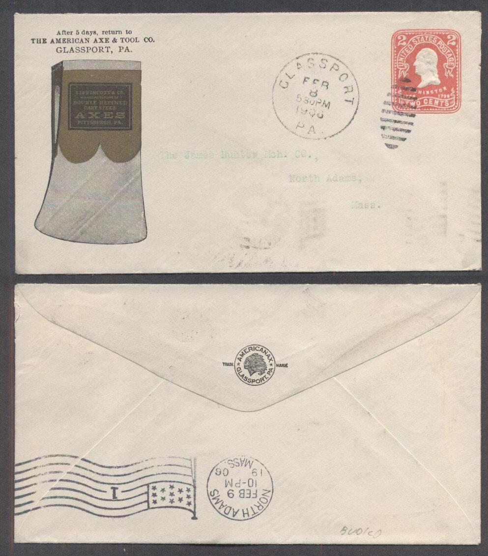 postal history united states pennsylvania allegheny county glassport
